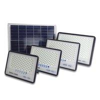 2020 Nueva Versión al aire libre 50W 100W 200W 300W lámparas solares luces de inundación del indicador LED del reflector solar con carga Display