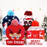 Creative Christmas Hats LED Light Beanie Sweater Knitted Santa Hat for Kids Adult Xmas Party Holiday Props Decoration