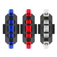 ماء 5 LED MTB دراجة دراجة الخلفي الذيل ضوء مصباح RED 4 وضع USB شحن أضواء دراجة دراجة ملحقاتها