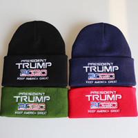 دونالد ترامب محبوك قبعة الشتاء الخريف مرحبا-البوب كاب جعل أمريكا العظمى ترامب 2020 رسالة التطريز قبعة الكروشيه القبعات التزلج في الهواء الطلق GWC1074