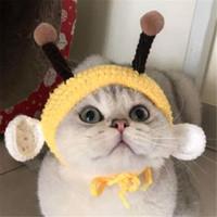 لطيف النحل الحيوانات الأليفة القبعات قبعات اليدوية القط القبعات الكلب قبعات القبعات جرو شخصية شخصية الحيوانات الأليفة مجوهرات