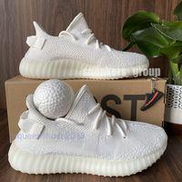 En Kaliteli Erkek Koşu Ayakkabıları Kadın Koşucu Sneakers Kanye West Israfil Karanlıkta Glow Eliada Kilitli Krem Beyaz V2 Chaussures Çift Kutu