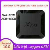 1 Piece! X96Q Android 10.0 TV Box Allwinner H313 2GB+16GB Support 2.4G Wifi PK T95