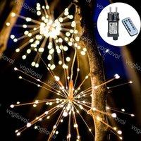 Cuerdas LED Fireworks 200leds 600leds 1200leds 8Mode con el controlador 3000k Multicolor para el patio al aire libre Decoración navideña DHL