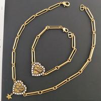 D / DI 2020CD a forma di cuore a forma di cristallo collana di cristallo Bracciale classico Collana di celebrità Internet
