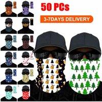 Los adultos unisex de Navidad de la cara máscara de Halloween Máscaras de la bufanda de la celebridad diadema mágica para el esquí de motos Ciclismo Pesca deportes al aire libre FY6095