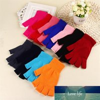 Fashion Women Winter Gloves 11 Colors Unisex Solid Color Kni...