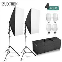 Fotografía ZUOCHEN 4x 25W LED de iluminación Softbox del estudio del soporte de Fotografía Luz de vídeo fijado para fotografía de interiores