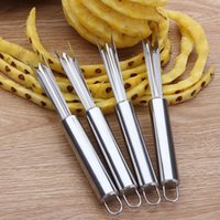 Cuchillo de acero inoxidable piña antideslizantes Herramientas policía de la piña Fácil limpieza piña Pala de frutas Herramientas de la cocina