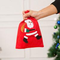 عيد الميلاد سانتا كيس غير المنسوجة أكياس هدية حلوى الكوكيز هدية حقيبة الرباط حزمة التخزين مع ثلج شجرة زينة عيد الميلاد GGA3754-4