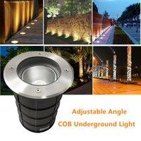 Angolo regolabile COB luce sotterranea 10W scaldano bianco freddo LED all'aperto percorso del giardino Piano Buried Yard