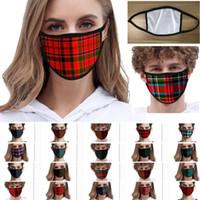 Tela escocesa rayada de la mascarilla Espesar calentamiento máscaras a prueba de polvo a prueba de viento Máscaras reutilizable lavable anti polvo protectoras DHL HH9-3157