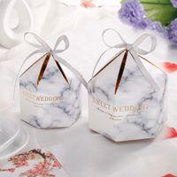 20 / 50PCS Bonbonnière avec ruban chocolat boîte-cadeau Souvenirs pour les invités Faveurs de mariage et cadeaux Dragée Baby Shower Favors Boîtes