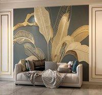 8D Panno per pareti TV Sfondo Sfondi Sfondi 3D Soggiorno Camera da letto Light Wallpaper Luxury Sfondi 5D Atmosfera di rilievo Retro Banana Murale