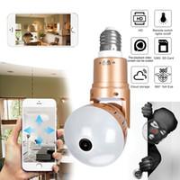 Lámpara de la bombilla de la cámara IP 2MP HD 360 grados Panoramic Light Home CCTV Infrarrojo y blanco Luz de aplicación Control de video vigilancia WiFi CA