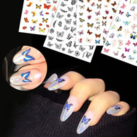 Farfalla del chiodo della stagnola Set Flower Nail Art Sticker Transfer floreale Nails decalcomania di cursori per Nail estate adesivo manicure CH1624