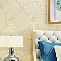 Wallpapers WELLYU Wallpaper Continental Damascus Non-woven Pressure Bedroom Wedding Room Living TV Background Wall Paper