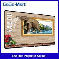 120 بوصة المحمولة العارض شاشة HD 4: 3 شاشة العرض قطرية طوي مسرح منزلي للجدار الإسقاط في الداخل في الهواء الطلق