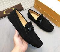 Yepyeni T0D Mens Gommino Loafer'lar Elbise Drive Tasarımcı Ofis Eğlence Gerçek Deri Ayakkabı Boyutu 38-44