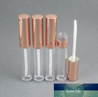Cosmetic Makeup Lip Gloss Packaging Rose Gold 6.5ml Round Empty Lip Gloss bottle LipGloss Container Clear Lip Gloss Tube Bottle SN780