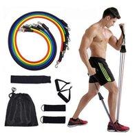 11 ADET Çekme Halat Seti Spor Egzersizleri Direnç Bantları Lateks Tüpler Pedal Excerciser Çekin Halat Vücut Egzersiz Eğitimi Ev Aksesuar LJJP439