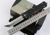 hoja de acero del combate de Microtech Troodon cuchillo Interceptor cuchillo Bowie / Hellhound Tanto / Lanza punto D2 cuchillos cuchillos cuchillo táctico EDC
