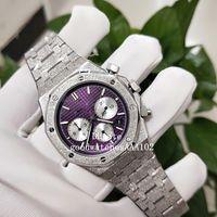 Top di alta qualità VK Quarzo Cronografo di lavoro 26331BC.GG.1224BC.01 Red Diamond Dial 41 millimetri Mens Watch Watches