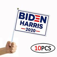 Joe Biden Harris 2020 Bandiera presidente degli Stati Uniti Biden Harris 14 * 21cm Elezione bandierina della mano bandiera americana mano 10pcs / Lot