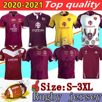 2020 National Rugby League Queensland 18 19 20 Qld Maroons Malou 럭비 유니폼 2021 Qld Maroons 원산지 럭비 유니폼 사이즈 S - 3XL