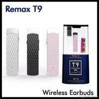 원래 RMAX RB-T9 무선 블루투스 헤드폰 이어폰에있는 볼륨 조절 장치 이어폰 헤드셋 이어폰 아이폰 삼성 휴대폰