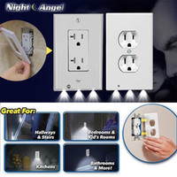 Durable Night Light Duplex Alta Qualidade Conveniente Wall Plate tampa de saída com LED Night Lights Ambient Light Sensor