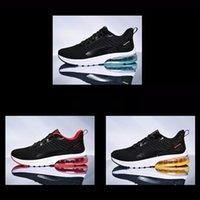 com meias grátis 2021 vermelho azul amarelo preto homens sapatos casuais homens treinadores ao ar livre esportes esportes Sapatilhas respirável corrida running sapato tênis 039-44 454