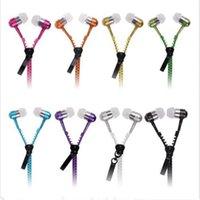 bunte Handy-Kopfhörer Neuer Kopfhörer-Mikrofon / Mic / Frische Earbuds Premium-3,5-mm-Tangle-Free Zipper Kopfhörer