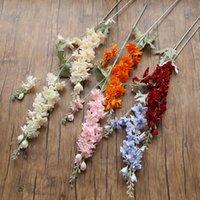 Dekorative Blumenkränze 5pcs / lot Künstliches Delphinium für Wohnkultur Weihnachtskranz Haushaltsprodukte Seide