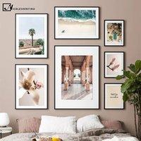 Spagna Siviglia Costruire fotografia su tela pittura di paesaggio poster Nordic Stampa artistica di corsa della parete Immagine decorazione domestica moderna