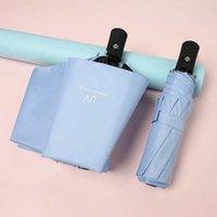Multicolor складной зонтик UV защиты Утолщение черное покрытие Солнцезащитный зонтик сплошного цвета Автоматическая двойного назначения Зонтики CY BH2159