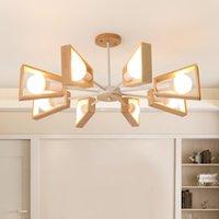 Moderne Kronleuchter Tree Lighting 3/5/6/8 Lichter E27 Windmühle LED Nordic Holzpendelleuchten Hängeleuchte für Wohnzimmer Schlafzimmer