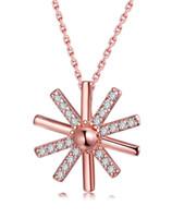 mode agood 925 colliers en argent sterling pendentif pour femmes rose collier plaqué or accessoires bijoux fête de mariage