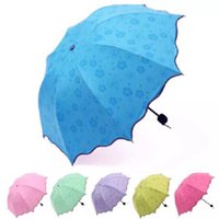 Зонтики дождевой передач волшебный цветок купол складной для женщин ветрозащитный солнцезащитный крем ультрафиолетостойкий зонтик зонтик солнца