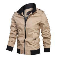 Sonbahar Yeni Ceket Erkekler Rasgele Katı Renk Standı Yaka Erkek Giyim Artı boyutu M-4XL Pamuk Hommes Veste Coat