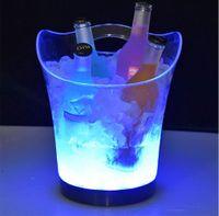 للماء LED القابلة لإعادة الشحن دلو الثلج 5.5L النبيذ ويسكي تبريد تغيير الألوان الشمبانيا النبيذ دلو للحزب نقابة المحامين الرئيسية ملهى ليلي