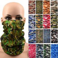 Hiphop naadloze bandana gezicht pijp masker camo hoofdband nekwarmer bescherming maskers outdoor vis rijden fietsen skull sjaals maskers
