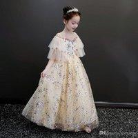 New Autunno Abiti eleganti per bambini in fiore per bambini per bambini Abiti per ragazze per la cerimonia di comunione