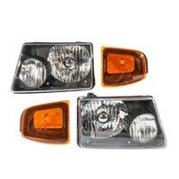 포드 레인저 2001 2011 검정 하우징 투명 렌즈에 대한 Winsun 4PCS 전면 왼쪽 오른쪽 자동차 헤드 라이트 코너 신호 램프