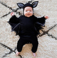 Fashion Toddler Baby Baby Baby garçons Girloween Bat Cosplay Costume Costume Romper Chapeau Halloween Outfits Nouveau Né Baby Vêtements Ensemble
