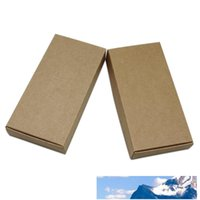 30Pcs / lot Brown Kraft carta fatta a mano Scatole sapone per i regali card pack Candy Torta di alimentari Partito Consiglio Arts Crafts bagagli Boxes13.3x6.8x1.8 cm