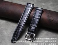 Bandes de montre Crocodile Bracelet en cuir véritable Bracelet de montre 20mm 22mm Véritable Band ALLIMIGATOR Belt-Belcale