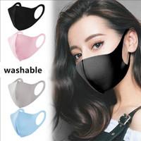 Моющиеся защитные маски для лица черный многоразовый дети взрослый дизайнер анти пыль маски для лица ткань хлопчатобумажные дети мода рот маски FY9041