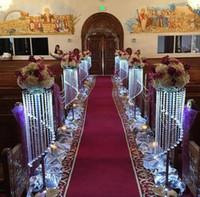Verkauf von Bulk-funkelndem Kristall klar Girlande Kronleuchter Hochzeit Kuchenstand Geburtstagsparty liefern Dekorationen für Tisch-Mittelstücke