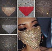 Модные Сетчатого Rhinestone маска Женщина Vintage Bling Bling кристалл дышащий рот маска Популярных подарок ювелирных изделия партия декор 5 цветов